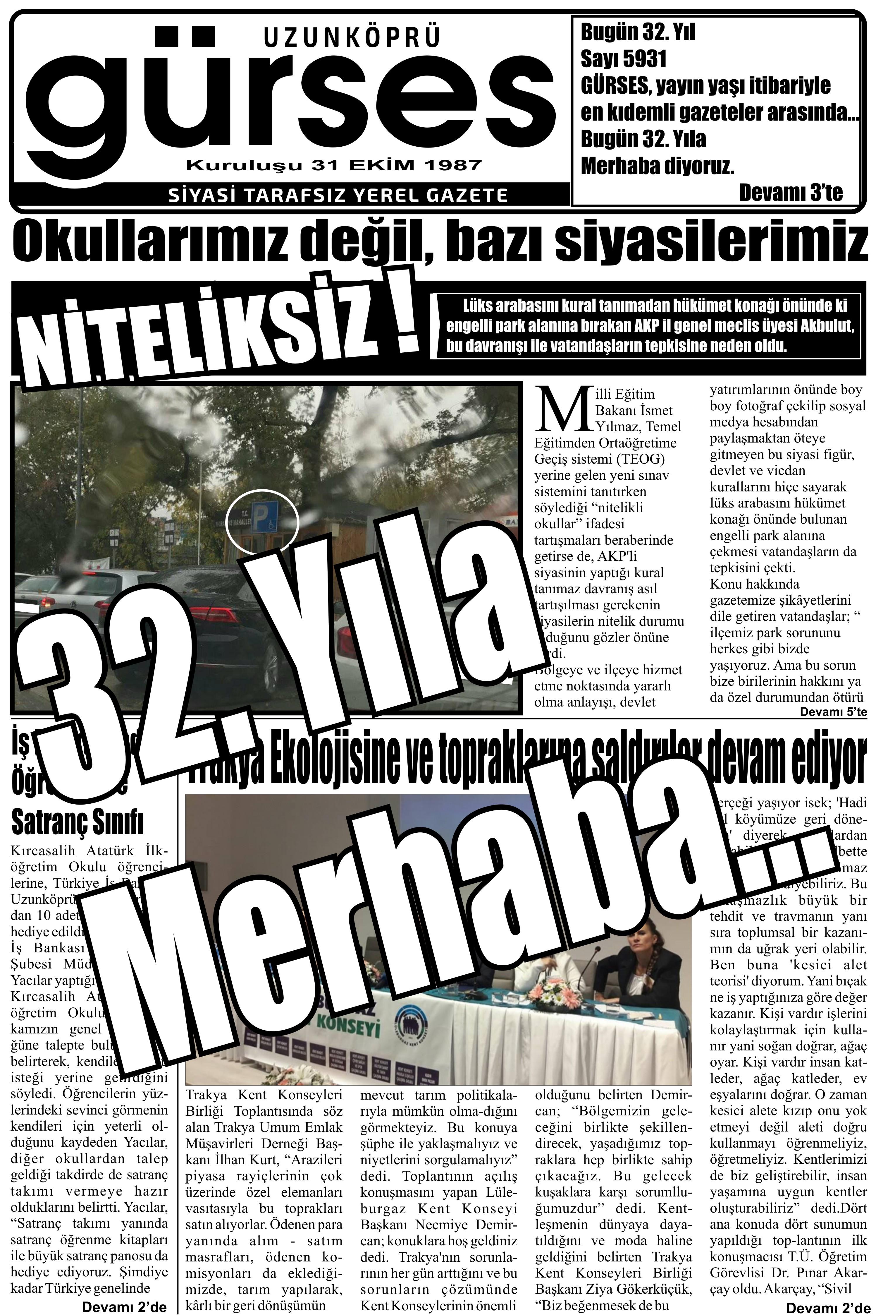 32 yil 5931 sayi uzunkopru gurses gazetesi